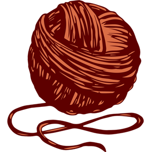 a ball of red wool
